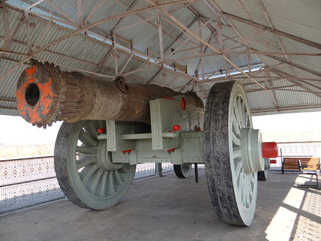 scientifically: The Jaivana cannon is a wheeled cannon. It is located at the Jaigarh Fort, Jaipur India. It was cast in 1720, by Jai Singh II of Jaipur the administrator of Jaigarh Fort during the reign of the Mughal Emperor Muhammad Shah. The formidable strength of its  Editorial
