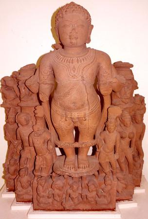 lord buddha: Lord Buddha in standing posture. Stock Photo
