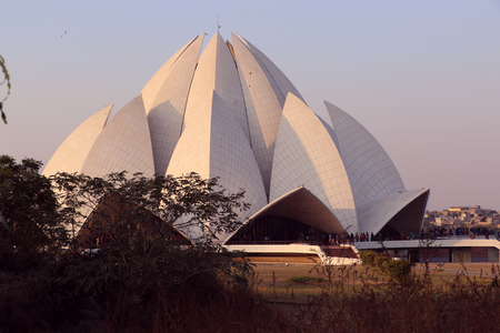 house of worship: Lotus Temple or Bahai House of Worship. This temple is built in the shape of a lotus flower and is the last of seven Major Bahais temples built around the world.