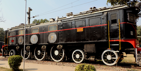 about age: Ane ratiquil engine in National Rail Museum, New Delhi. One can see here about 150 years old engines, coaches, saloon and best preserved steam locomotive engines of its age.