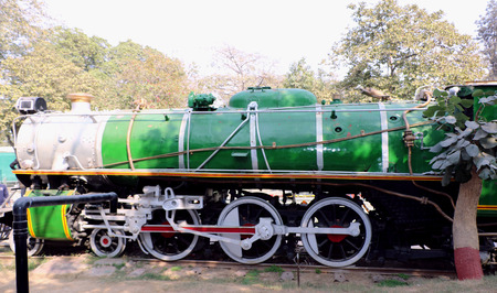 signalling device: Ane ratiquil engine in National Rail Museum, New Delhi. One can see here about 150 years old engines, coaches, saloon and best preserved steam locomotive engines of its age.