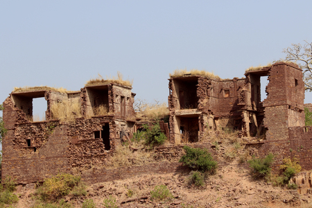 Ruins of thousand years old Narwar Fort, Shivpuri, India lies at a height of 500 feet above sea level, now in a dilapidated condition but the remains indicates its flourishing days.