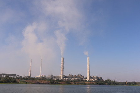 emitting: Kota thermal power plant, across Chamble river, emitting smoke constantly and increasing pollution in the environment. Editorial