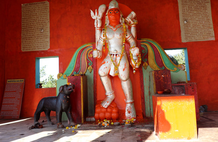 Lord Bhairav; an incarnation of Lord Shiva. Lord Bhairav is widely worshipped by Hindu tantriks and yogis to gain various siddhispowers.