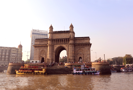 Gateway of India in Mumbai view from sea. It is synonymous with Mumbai & the starting point for most tourists who want to explore the city.