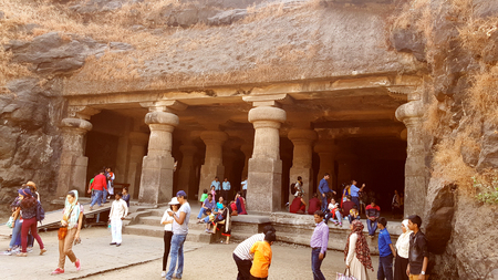 cult: Elephanta caves dock, from where one can reach to one of the oldest rock cut structures of India, the Elephanta caves, associated to the cult of Lord Shiva.