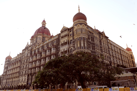 maharashtra: The Taj Mahal Palace Hotel is a five star historic & luxury hotel located near Gateway of India, Colaba. Tourists love to see it.