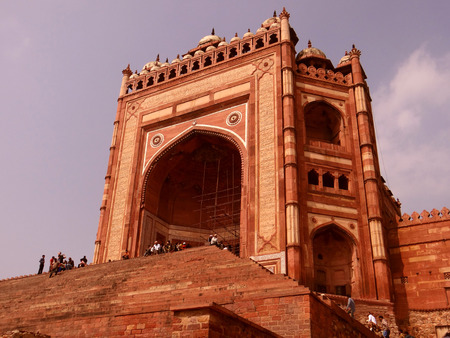 Buland Darwaza, Fatehpur Sikri was built in 1576 A.D. by Akbar to commemorate his victory over Gujarat. Buland Darwaza, meaning high or great gate in Urdu. Editorial