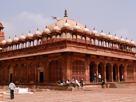 magnificence: Fatehpur Sikri the Capital of the Mughal Empire founded in 1569 by the Mughal emperor Akbar and served as the capital of the Mughal Empire from 1571 to 1585.
