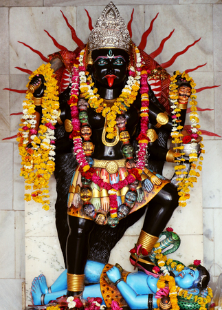 Popular Goddess Kali Temple,  Khajrana, Indore. Goddess Kali is known as the Redeemer of the universe. Sajtókép