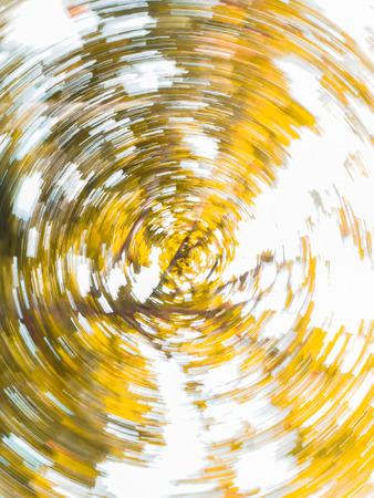 rotative: abstract circular rotation of yellow leaf tree