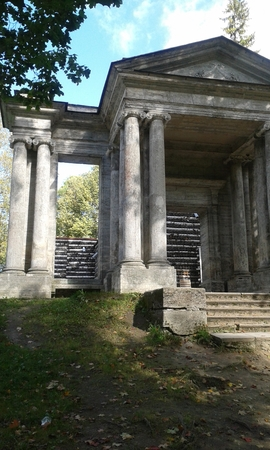 old building: Colonnade of an old building
