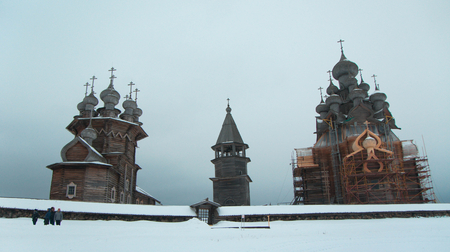 ensemble: The architectural ensemble of the Orthodox wooden Church and bell tower