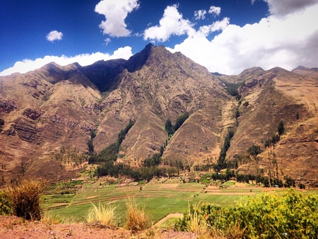 pisac: Sacred valley of the Incas, mountain landscape, Peru