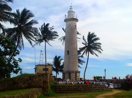 onshore: Historic lighthouse at the old soldier Fort