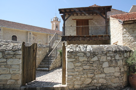 The old winding streets of the authentic Cypriot village