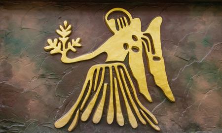 Virgo sign of horoscope on the wall Imagens