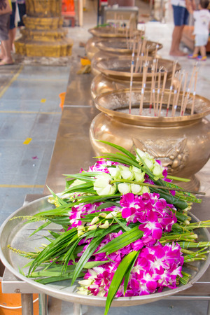 Orchid Buddhist Lent in Thailand