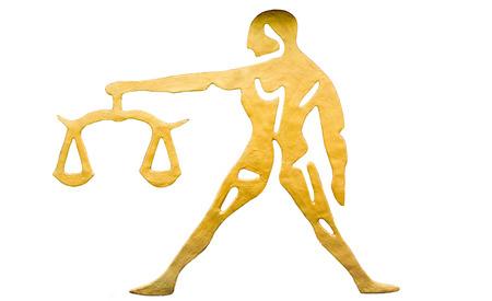 virgo the virgin: Libra sign of horoscope isolated on white
