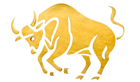 Taurus sign of horoscope isolated on white Imagens