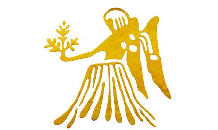 Virgo sign of horoscope isolated on white Imagens
