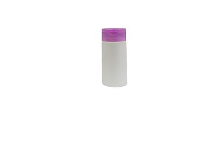 Body lotion bottle isolated on white