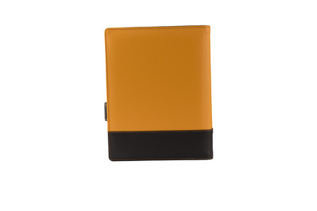 Orange diary book isolated on white