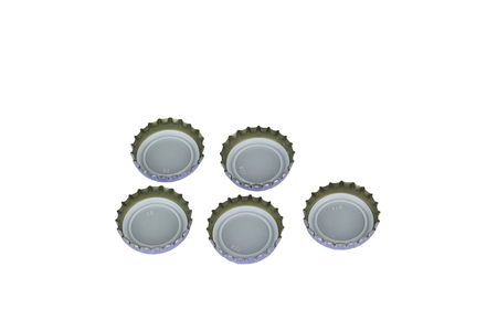 Cap beer Isolated on white
