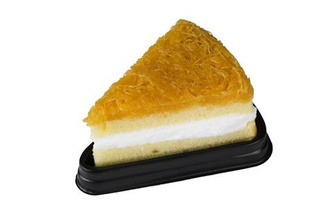 New Chiffon cake isolated on white