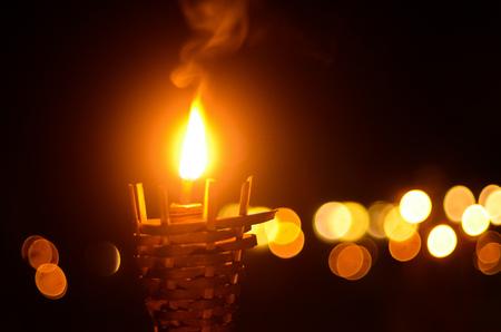 natural flame light