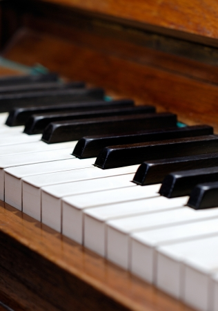 Old wood piano photo