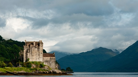 Eilean Donan castle, very popular landmark in Scotland photo