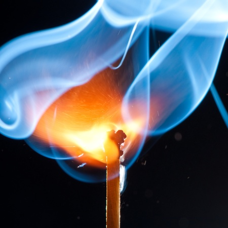 Stock Photo: match bursting with incredible smoke cloud Image ID: 72214348   Release  information: NA   Copyright: Michal Durinik   Keywords: atomic, background, black, blue, bright, burn, burst, close-up, closeup, cloud, concept, copy-space, copyspace,  Stock Photo
