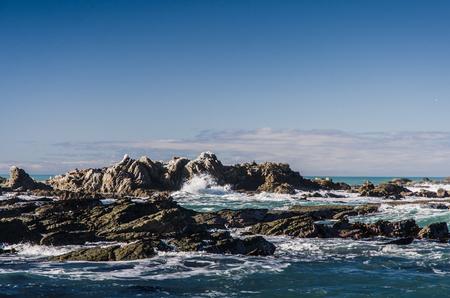 sharp: dangerous sharp rocks in the sea