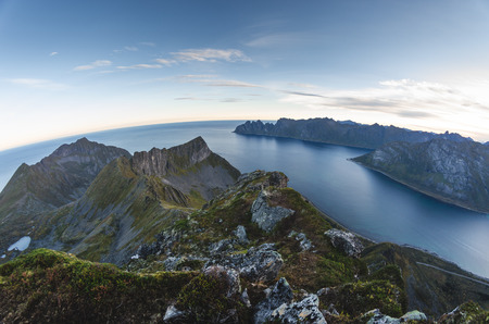 breen: mountain range of Senja Norway