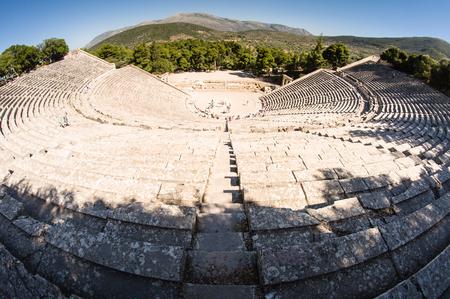 Theater in ancient Epidauros, Greece