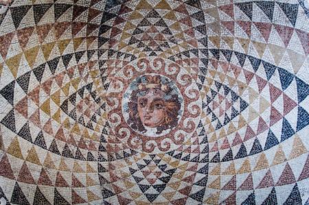 medusa: mosaic of Medusa Gorgona Stock Photo