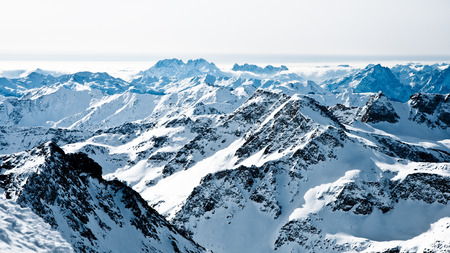 mountaintops: mountaintops in winter, Alps