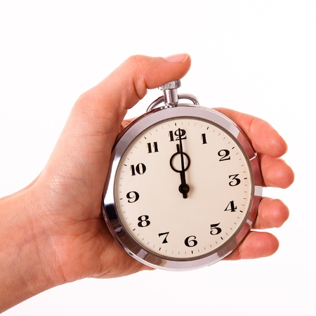 just in time: Punctuality Stock Photo