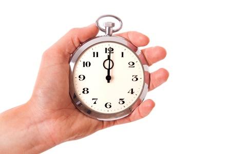 punctual: Justo a tiempo Foto de archivo