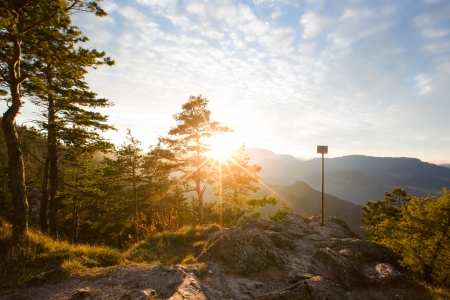 viewpoints: Kleine Kanzel in the Nature Park Hohe Wand in Austria