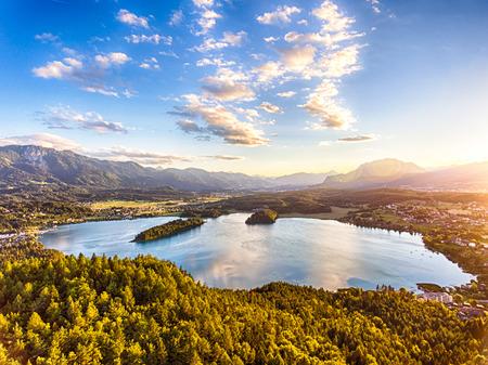 View of lake Faaker See in Carinthia, Austria Reklamní fotografie