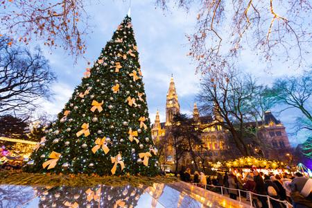Hôtel de ville de Vienne Marché de Noël Rathausplatz
