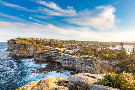 Watsons Bay Gap Bluff close to Sydney, NSW, Australia. Beautiful and very expensive residential area in New South Wales. Stock fotó