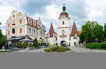 Krems Steinertor landmark. Small town at the Danube River in Lower Austria