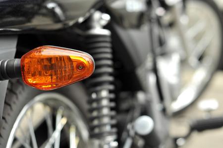 taillight: Turn signal taillight of motorcycle Stock Photo