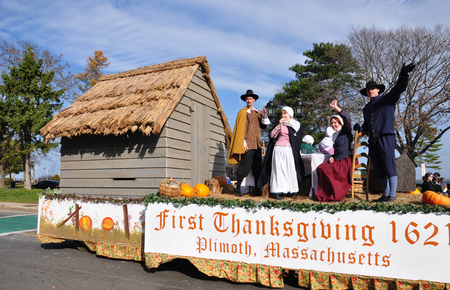 First Thanksgiving parade at Plymouth, MA Editorial