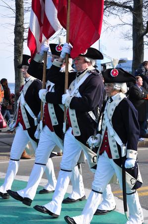 First Thanksgiving parade at Plymouth, MA Editöryel