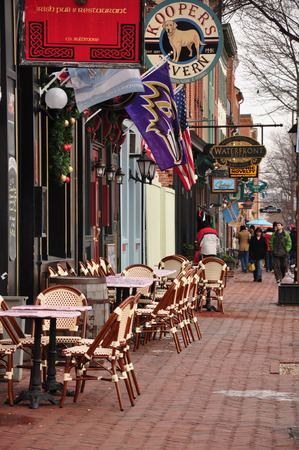 fells: Shops and restaurants at Fells Point, Baltimore