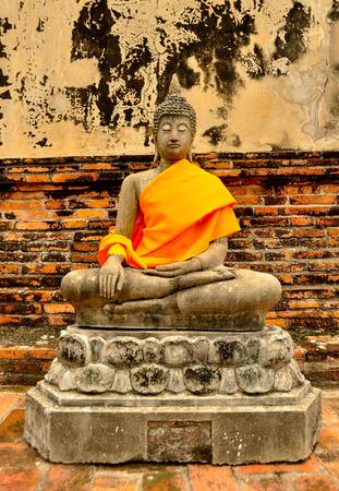 chai: Buddha at Wat Yai Chai Mongkhon, Ayutthaya, Thailand